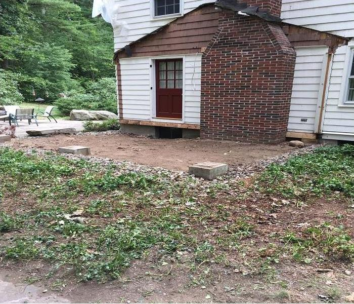 Porch Flattened by Tree in Rain/Wind Storm After