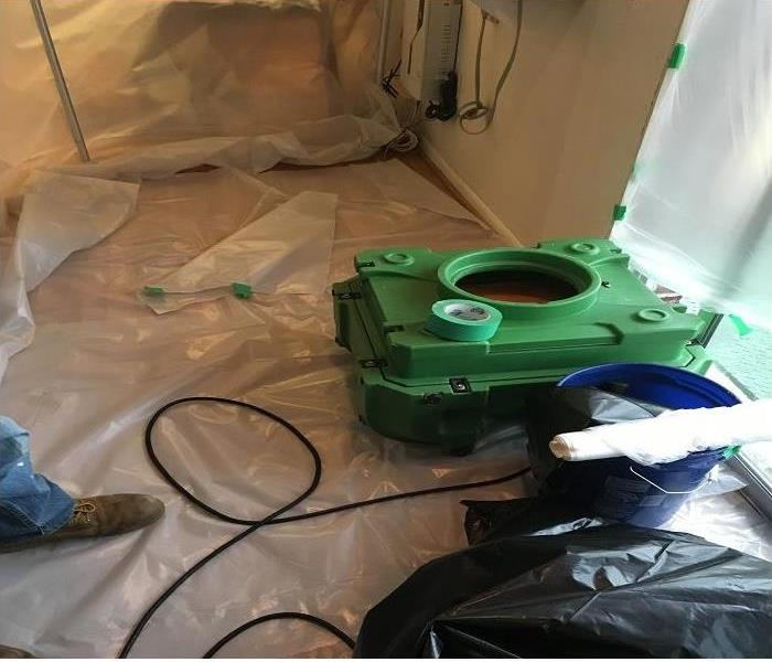 Air Scrubber During Mold Remediation After