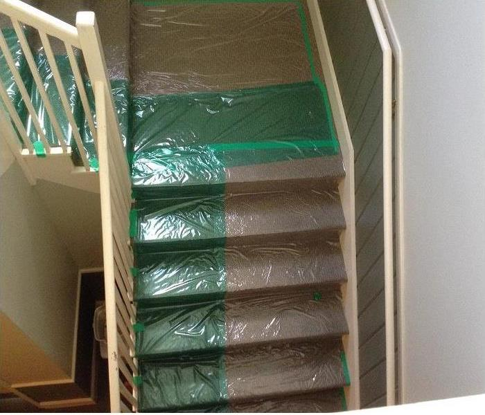 Covered Stairs to Avoid Tracking of Contaminates
