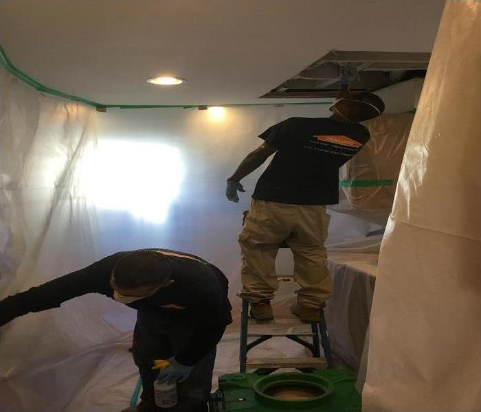 Containment in Use During Mold Remediation