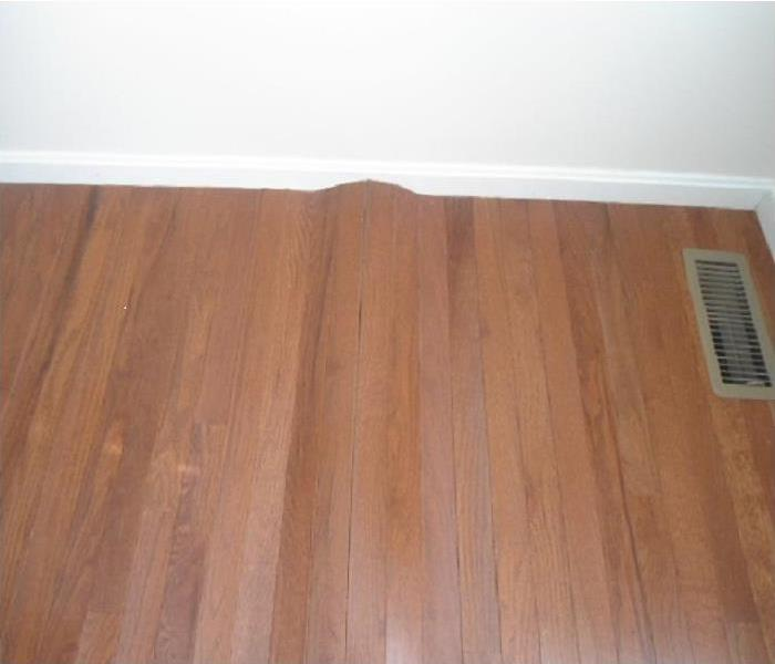 Water Damage Hardwood Floor Cupping vs. Crowning
